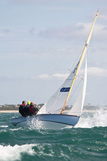 XOD sail boat 'Lizz Whizz' racing during Aberdeen Asset Management Cowes Week. #sailboats #boats #sailing