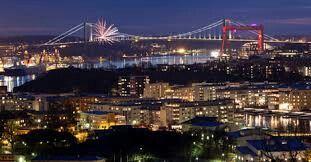 Gothenburg Sweden – night lights