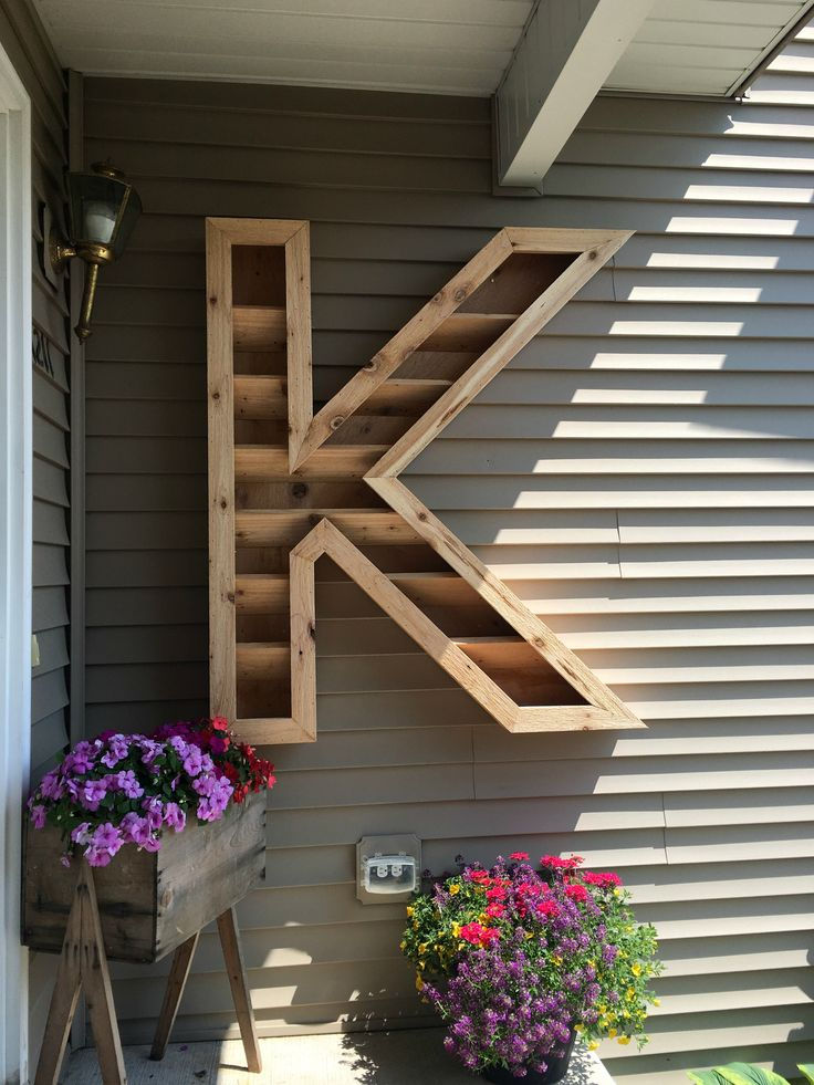 DIY Cedar Monogram Planter Box Letter planter, Planter