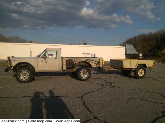 Perfect 1988 Jeep J20 With M101 Trailer