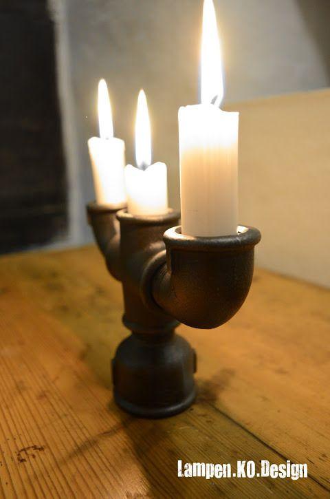 kerzenst nder von lampen ko design aus der serie steampunk mehr infos unter http lampen ko. Black Bedroom Furniture Sets. Home Design Ideas