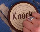 Knock On Wood Portable Knocker Superstition Fun Geekery by Debbie Is Adopted. $12.00, via Etsy.