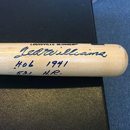 Signed Ted Williams Baseball Bat - RARE Heavily Inscribed Stats MINT 9 - PSA/DNA Certified - Autographed MLB Bats ** Learn more by visiting the image link.