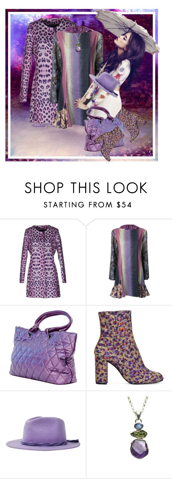 """Purple Pattern Mixing"" by ragnh-mjos ❤ liked on Polyvore featuring JENNY FAX, Kurt Geiger, Brixton and Poppy Jewellery"