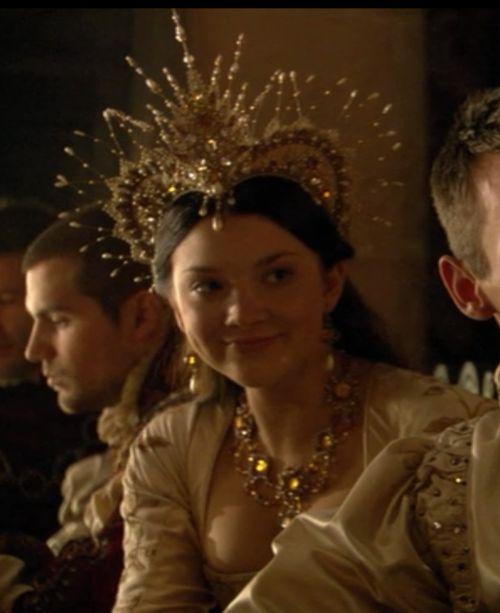 The Tudors Natalie Dormer as Anne Boleyn, hairdress