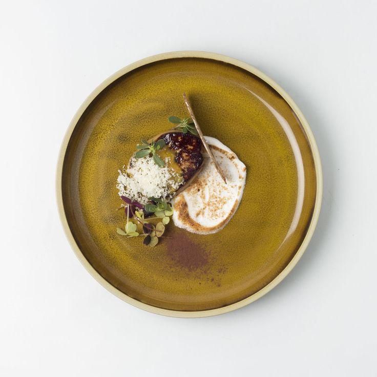 Foie gras acidulé, meringue salée