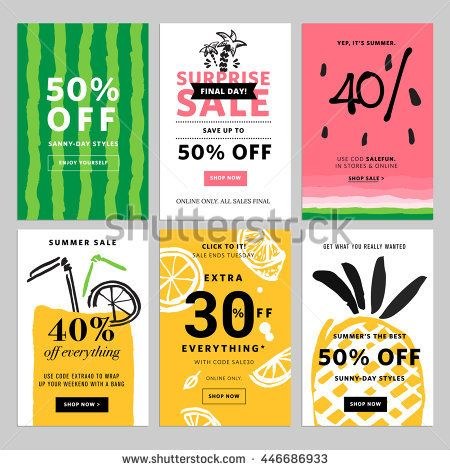 Hand drawn design promotional banner templates. Vector illustrations for website and mobile website banners, posters, email and newsletter designs, ads, promotional material.