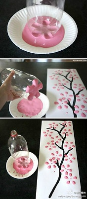 cherry blossom art (for Japan area of Cokesbury's Everywhere Fun Fair)