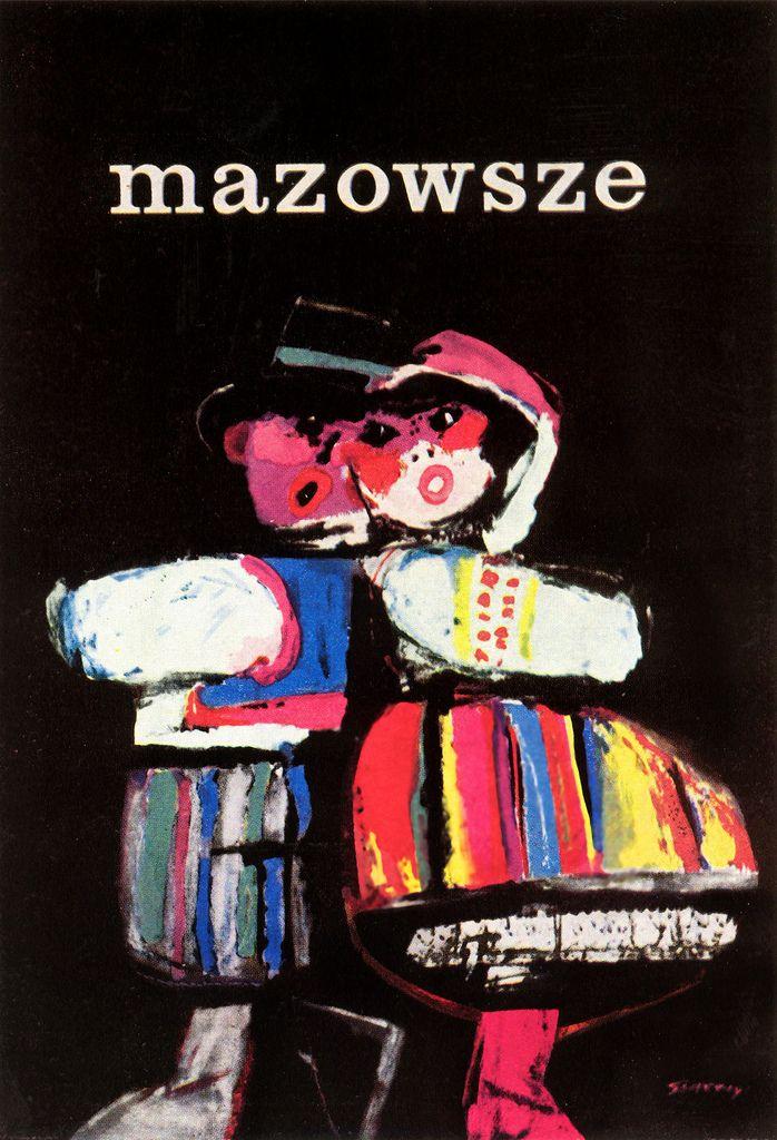 https://flic.kr/p/6XG5CR | Polish folk dancing poster. Mazowsze | author…