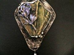 Keramia cín náhrdelník Levandule