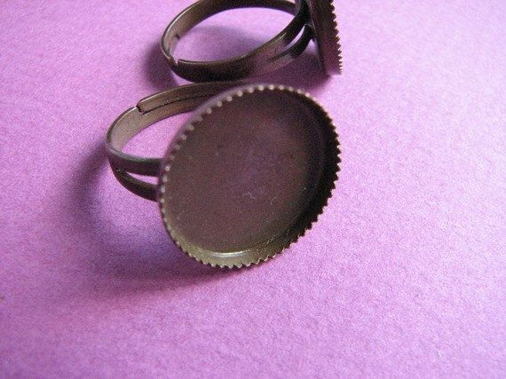 16 mm Adjustable Bezel Ring Base Copper by Turkeysupply http://etsy.me/1F9J7cy #jewelry #ring #mount #brass #jewel #gem #bezel #setting
