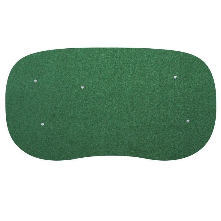 15 ft. x 28 ft. 5-Hole Indoor/Outdoor Nylon Practice Putting Green, This Is A Nylon Synthetic Turf Putting Green/Two-Tone (Lawn Green/Beigegreen)