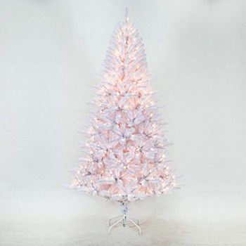 St. Nicholas Square 7-ft. White Douglas Fir Pre-Lit Christmas Tree