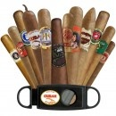 12 BEST CIGARS SAMPLER - BOUTIQUE PREMIUM CIGAR SAMPLERS - FREE GUILLOTINE CUTTER - AN OVER $74 VALUE
