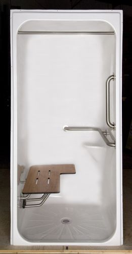 #60InchShowerStallKit Design your disability bathroom with great ideas from us at http://www.disabledbathrooms.org/ada-bathroom-requirements.html