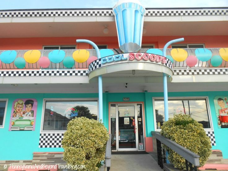 Cool Scoops Ice Cream Parlor in Wildwood New Jersey - A Journey Back In Time inside this Doo Wop style ice cream parlor!