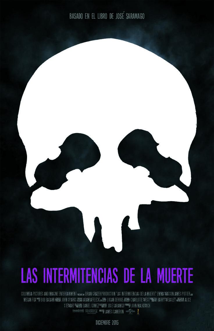 """Proyecto afiche """"Las Intermitencias de la Muerte"""". Diego Berríos."""
