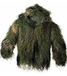 Our new ULTRA-LIGHT GHILLIE JACKET is substantially more comfortable and just as effective as a traditional ghillie suits. We designed a light-weight, synthetic