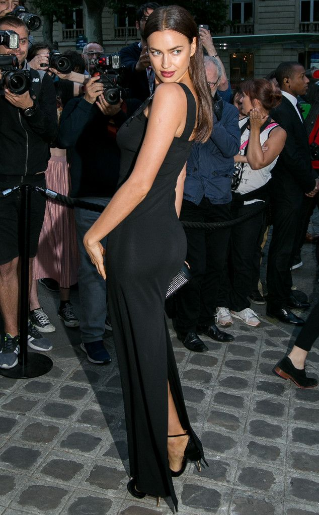 Irina Shayk from The Big Picture: Today's Hot Pics  The model strikes a sexy pose before heading into theVogue Foundation Gala inParis.