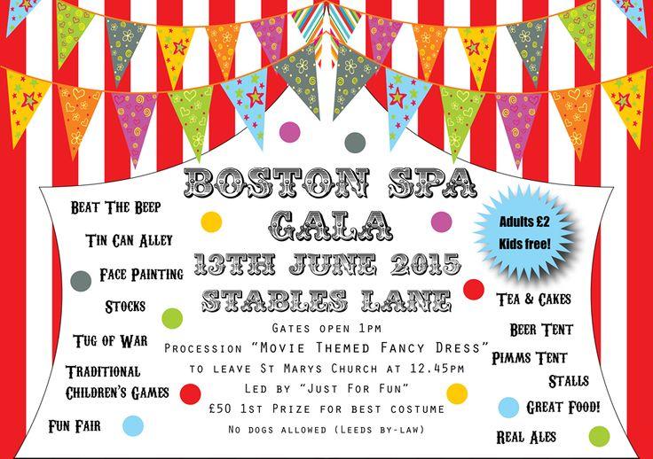 BOSTON SPA: Boston Spa Gala is 13th June on Stables Lane, Boston Spa. Gates open from 1pm