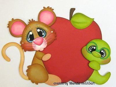 Escuela ratones Apple Niño Niña juntar las piezas de papel de Scrapbook página Rhonda rm613art prefabricados | eBay!
