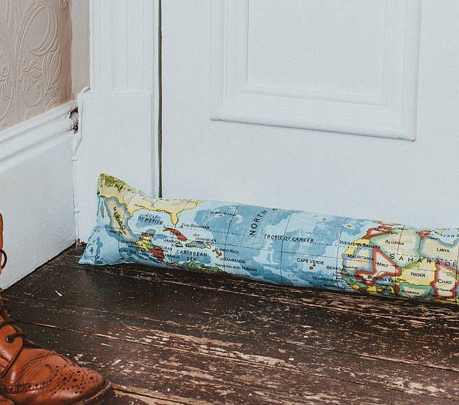 atlas draught excluder by pins and ribbons | notonthehighstreet.com