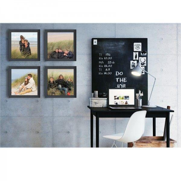 "Mur de cadres ""CARRAFIN"" CosyGallery, composé de 4 cadres photos, disponibles en coloris ardoise, gris souris, taupe ou titane. A personnaliser avec vos photos."