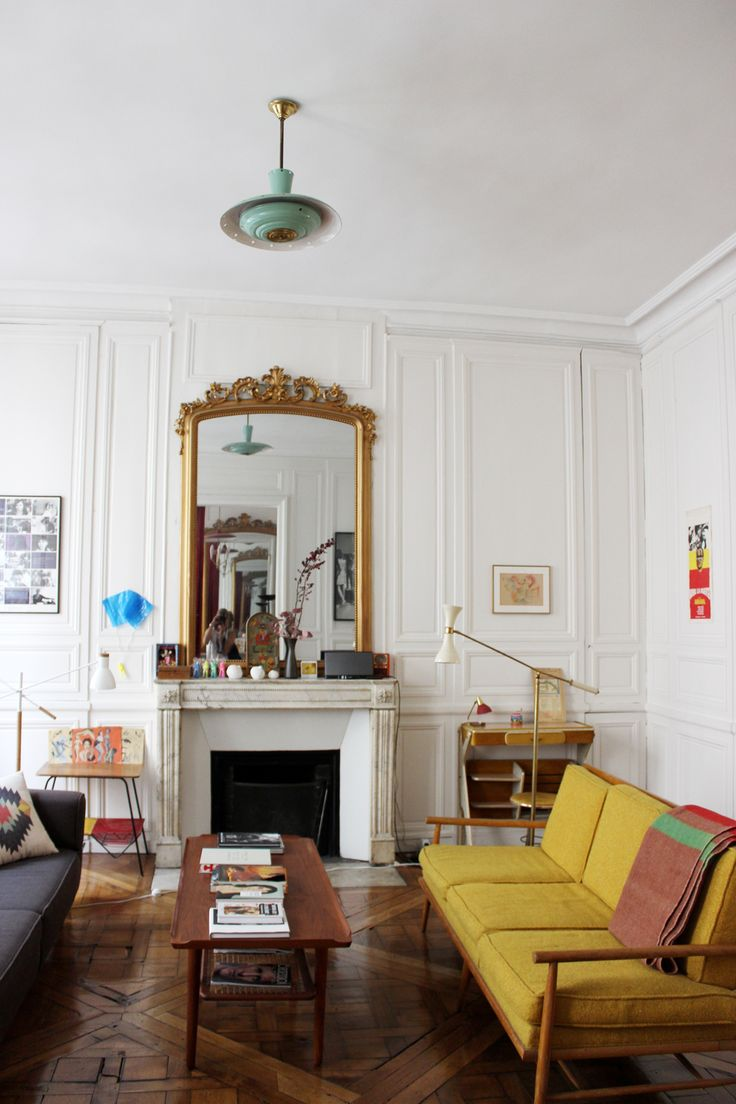 Apartment in Paris St Germaine. So much character and style.