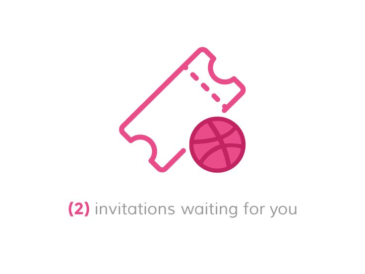 Two Dribbble invites by James Alonso