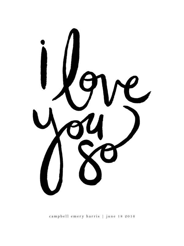 I Love You So Children's Custom Art Print by Kelly Ventura | Minted