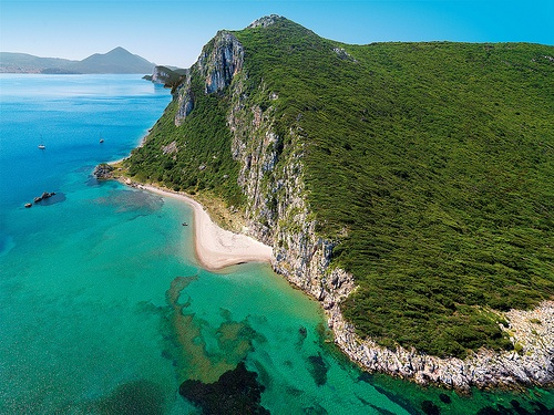 Messinia's long and varied coastline hides many secluded beach coves #beach #Greece #Messinia