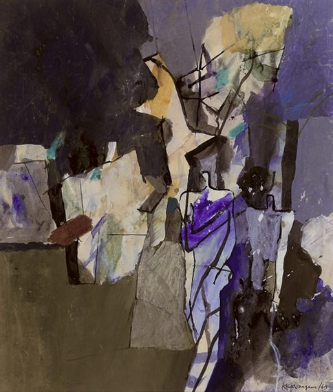 Keith Vaughan, Nudes in a landscape
