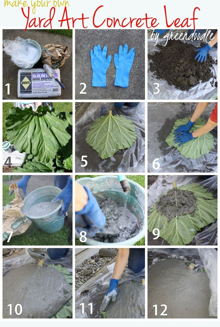 Concrete Leaf Yard Art Tutorial