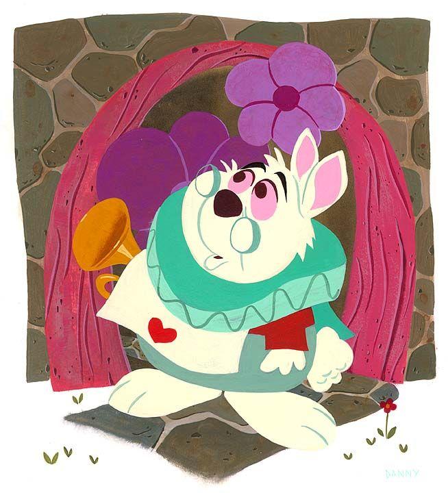 Daniel Arriaga and Disney Art, White Rabbit, Disney Fine Art