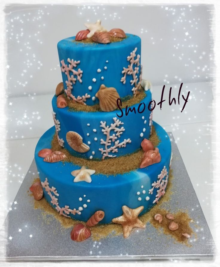 Torta tema mare by Smoothly