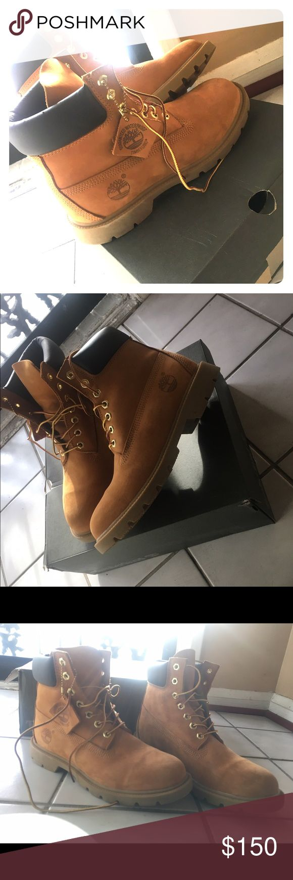 "Timberland boots Timberland Classic 6"" basic... Basically new timbs for sale... worn twice... men's 7.5=women's 9 Timberland Shoes Ankle Boots & Booties"
