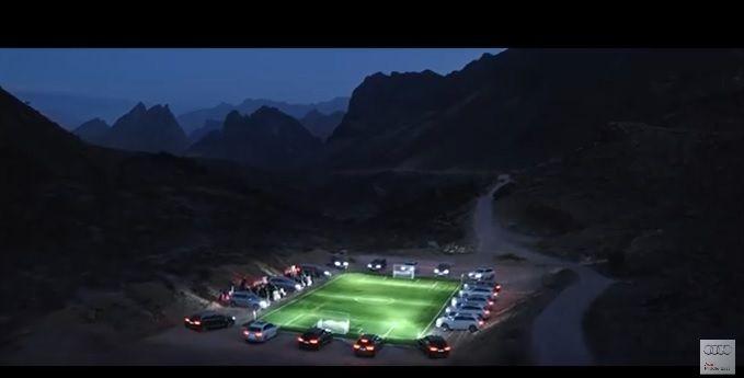 アウディ・アラブのチャレンジ企画 「サッカー少年に夢のピッチを贈り、ライトアップせよ」 | AdGang