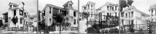 Conjunto de casas para aluguel de propriedade de João Dente. Livro: Victor Dubugras, percursor da arquitetura moderna na América Latina – Editora da USP – 2005.