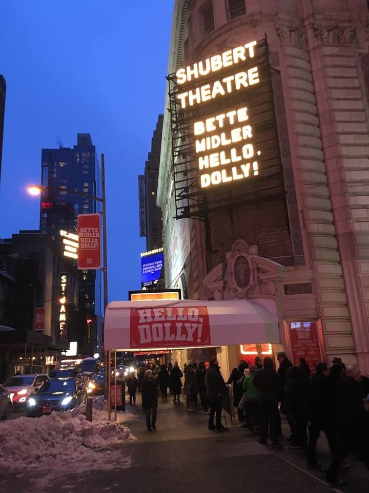 Shubert Theatre March 15, 2017 first preview of Hello, Dolly! starring Bette Midler