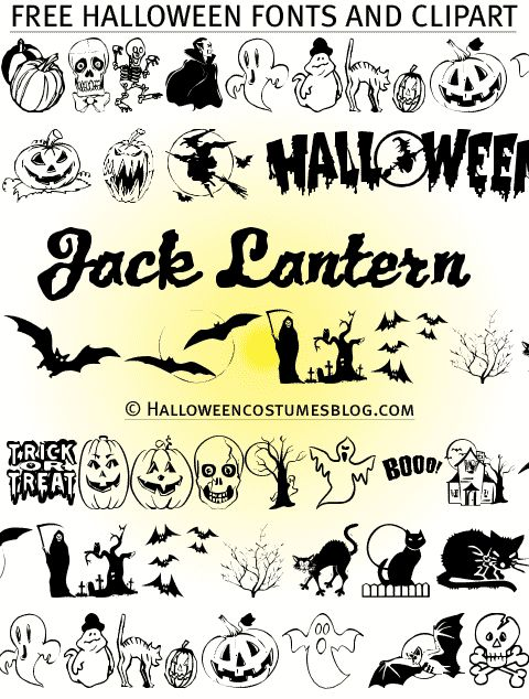 halloween clipart free border