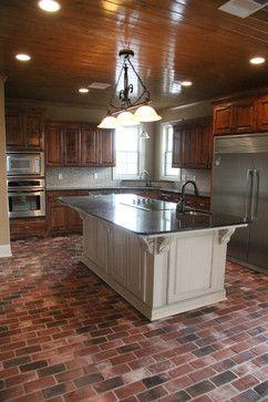 Brick Pavers For Kitchen Flooring | 12,650 Brick Paver Kitchen Design Photos