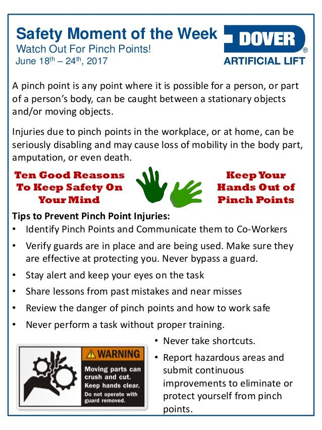 Watch Out For Pinch Points! Alberta Oil Tool's Safety