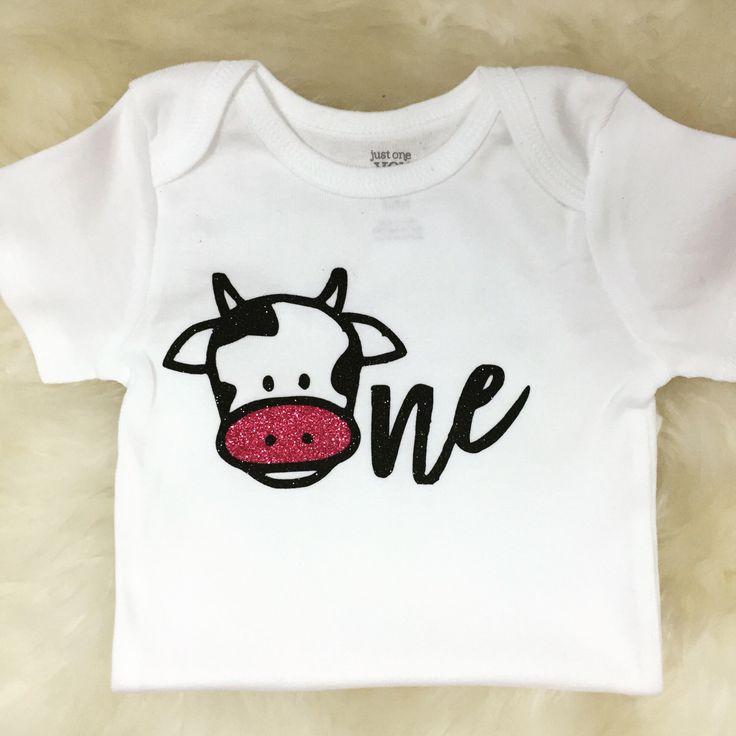 First Birthday Shirt Farm Animal Birthday 1st Birthday One Shirt Cow Birthday Sparkly One Shirt Cow Outfit Cow Shirt Animal Birthday Party by SparkledwithGraceCo on Etsy https://www.etsy.com/listing/456149014/first-birthday-shirt-farm-animal