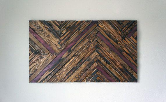 Purple Heart Wood Wall Art