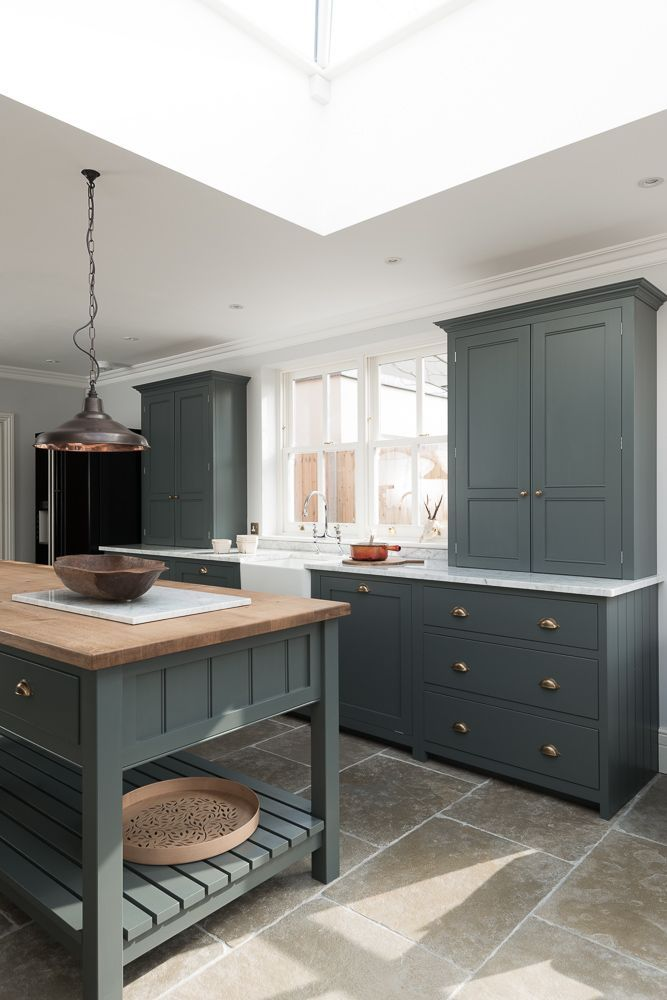 The Hampton Court Kitchen by deVOL painted in a bespoke paint colour with…... - http://kitchenideas.tips/the-hampton-court-kitchen-by-devol-painted-in-a-bespoke-paint-colour-with/