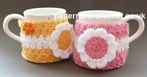FREE crochet pattern for a Mug Warmer by Patterns For Crochet.