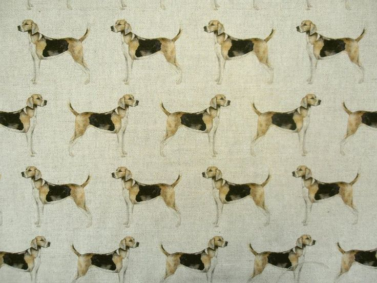 Voyage Hounds Linen £29 per metre. More dog themed fabrics available from voyage on our website.