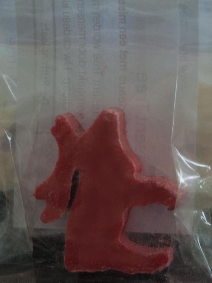 Kerstzeepje verpakt in een zakje gemaakt voor hotel De Gouden Karper in Hummelo.