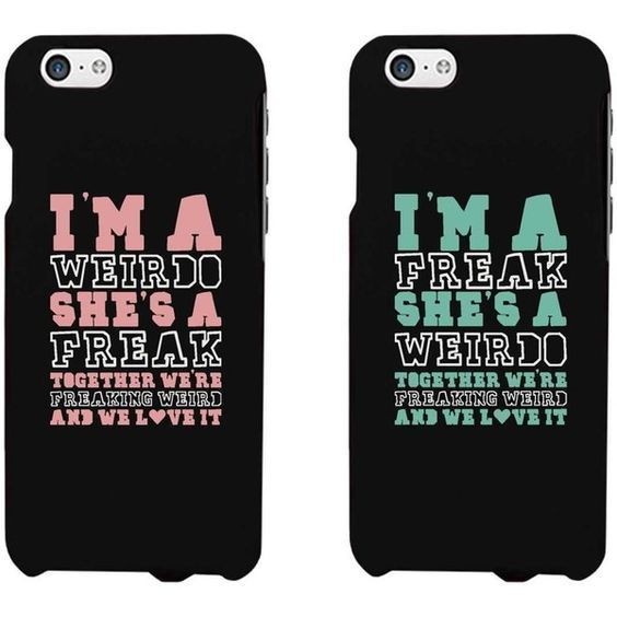 Funny BFF Phone Cases Freak and Weirdo Phone Covers for Apple iphone 4, iphone 5, iphone 5C, iphone 6, iphone 6 plus, Samsung Galaxy S3, Galaxy S4, Galaxy S5, Galaxy S6, Note 4, HTC M8, LG G3