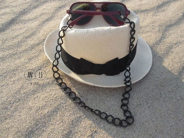 Black metallic sunglasses chain. Best summer accessories.
